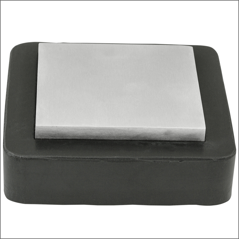 Steel bench block with Rubber base