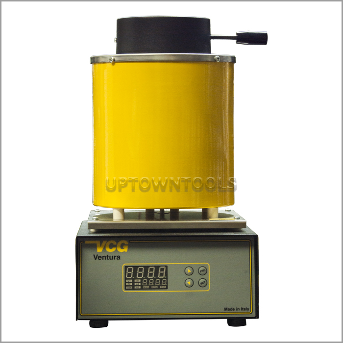 Automatic Electric Melting Furnace,3KG Gold Melting Furnace 2102/°F Digital Melting Furnace Machine Heating Capacity 1600W Casting Refining for Precious Metals Gold Silver