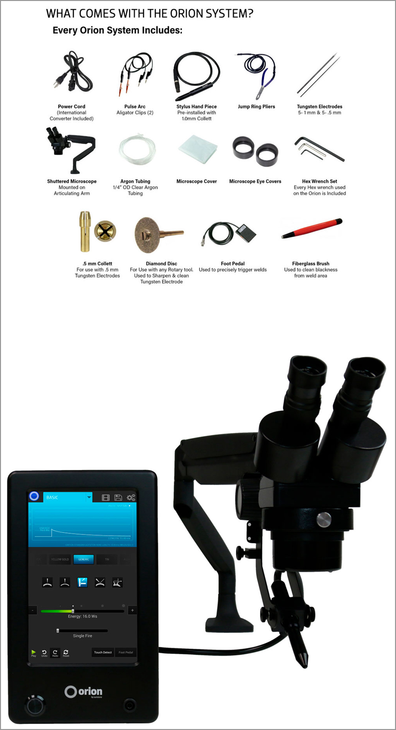 Orion 150s Precision Welding tools