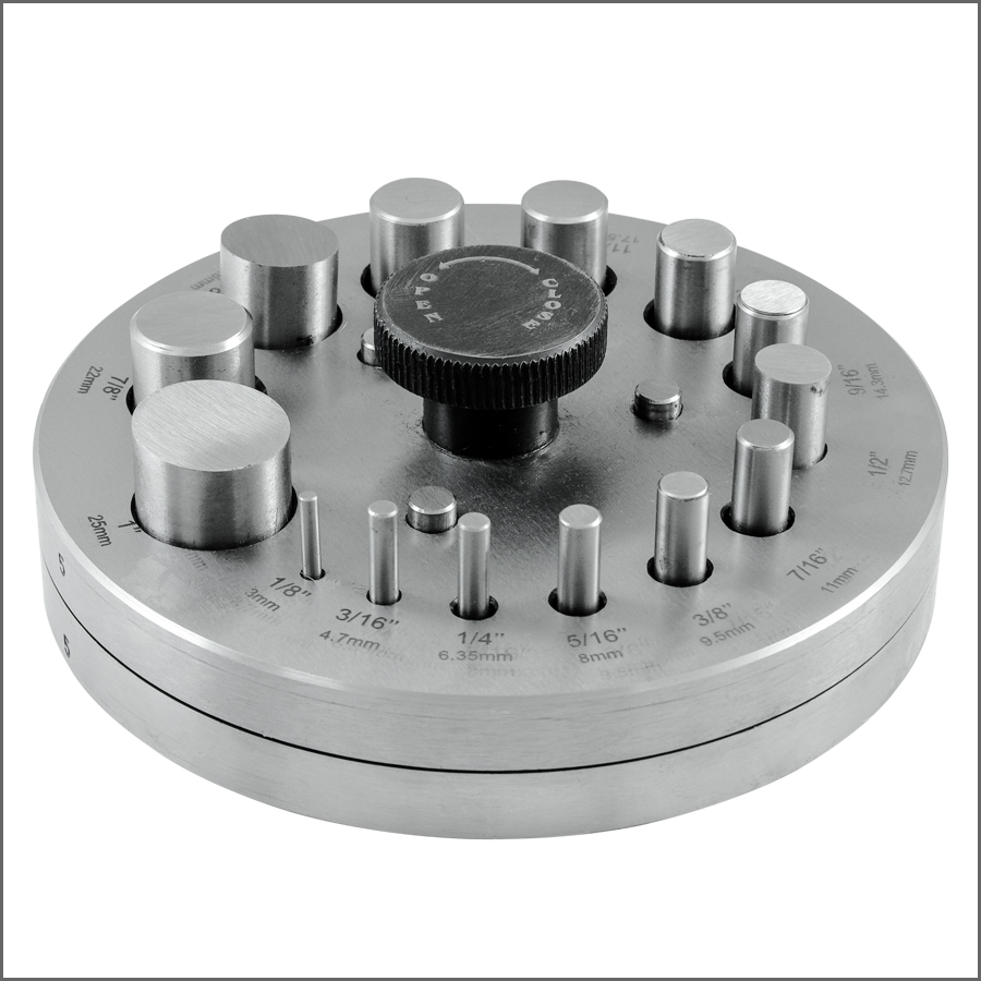 Euro Pro Disc Cutter Set of 14 Round on Wood Stand