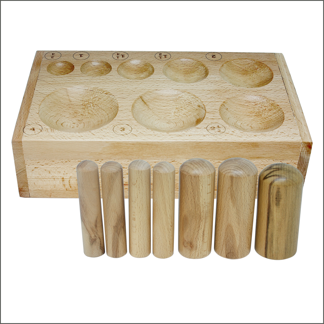 WOOD DAPPING BLOCK PUNCHES