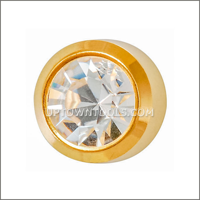 GOLD PLATED REGULAR BIRTHSTONE APR CRYSTAL-R204Y