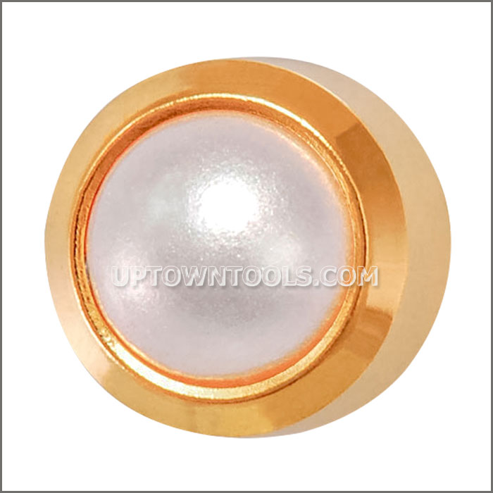 GOLD PLATED REGULAR WHITE PEARL-R301Y