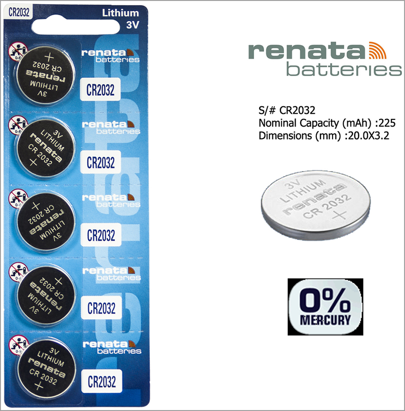 RENATA Cr2032 3V Lithium Batteries