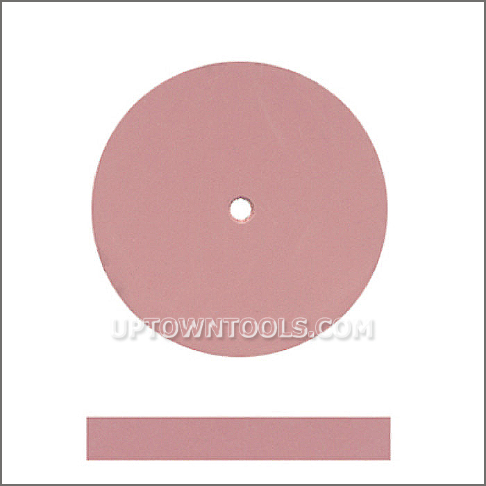 DEDECO UNIVERSAL SILICONE RUBBER WHEELS  PINK - EXTRA-FINE (7/8 x 1/8)