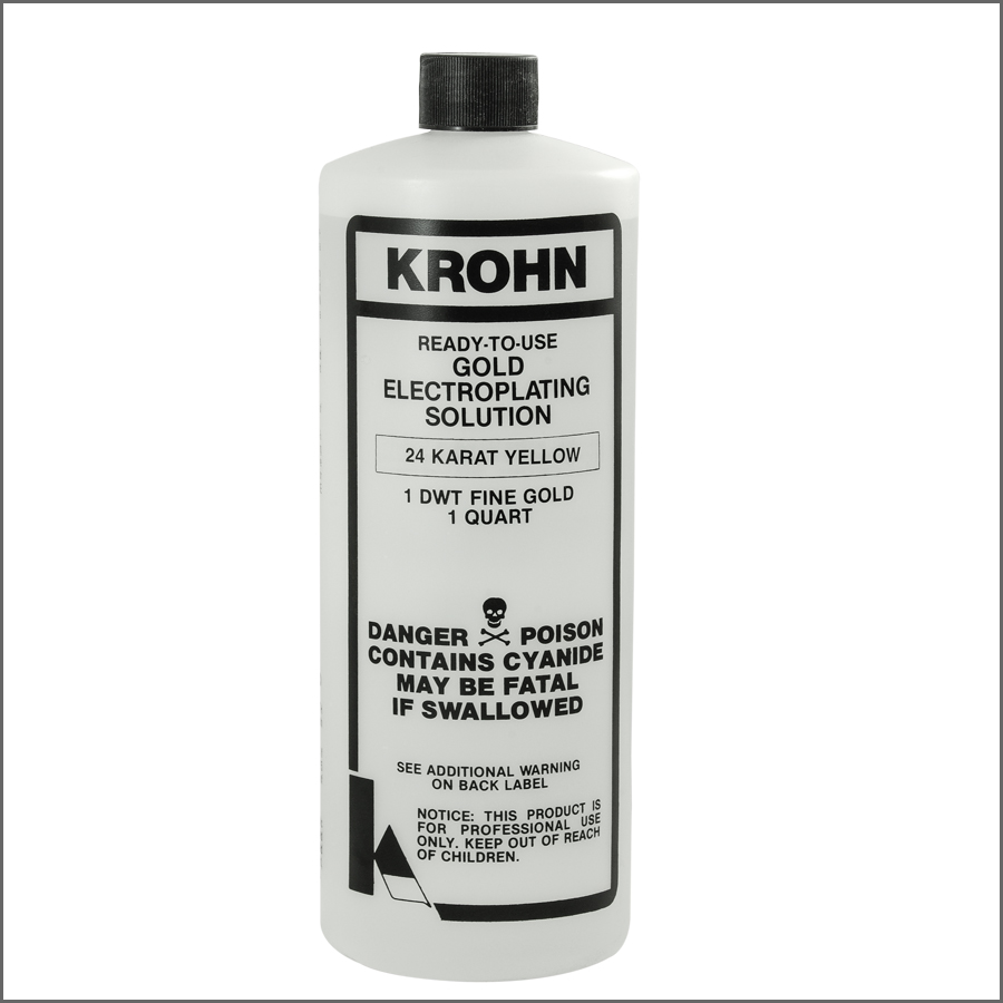 GOLD PLATING SOLUTION / 24 karat yellow