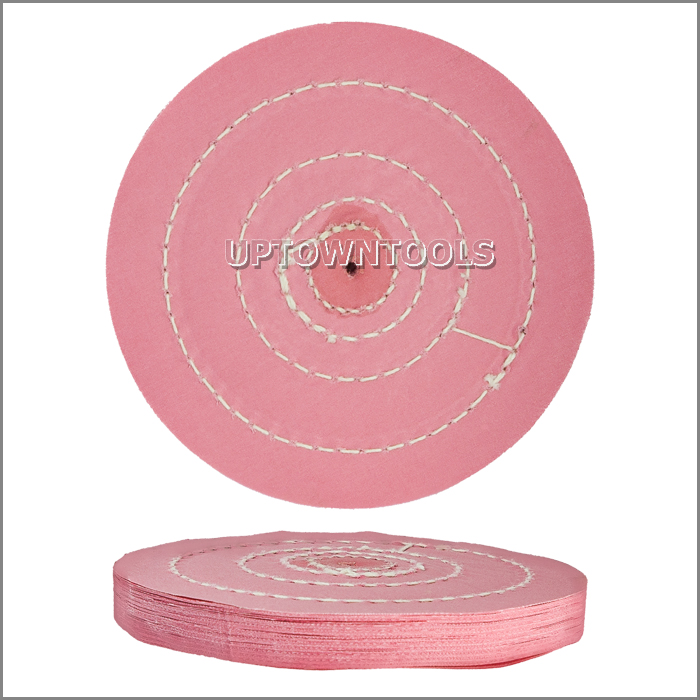 PINK HIGH QUALITY POLISHING BUFFS-5 inch X 50PLY