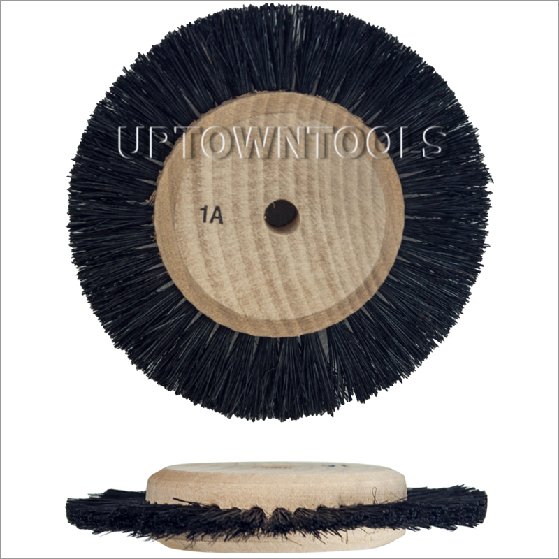 WOOD HUB WHEEL BRUSHES - 1A -1ROW